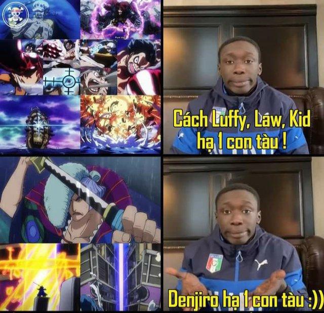 Anime One Piece tập 978 làm quá lố cảnh Siêu Tân Tinh đánh chìm tàu chiến phe Kaido, các fan thi nhau ném đá - Ảnh 1.
