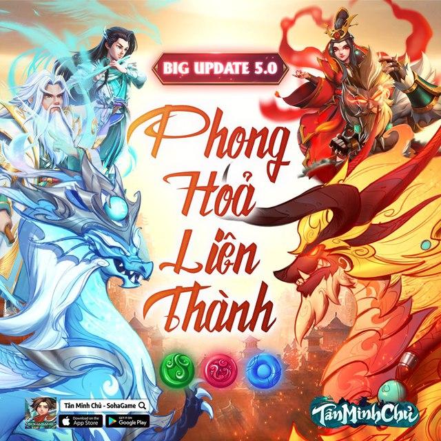 Mừng Big Update 5.0 - Phong Hỏa Liên Thành, Tân Minh Chủ tặng Giftcode siêu giá trị cho game thủ! - Ảnh 1.