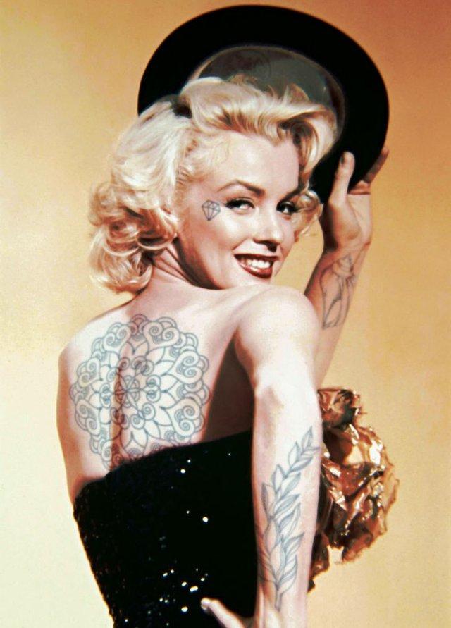 Marilyn Monroe và loạt sao Hollywood biến đổi thế nào khi có thêm những hình xăm? - Ảnh 19.