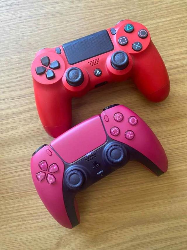 Trên tay 2 phiên bản mới Cosmic Red và Midnight Black của tay cầm DualSense PS5 - Ảnh 4.