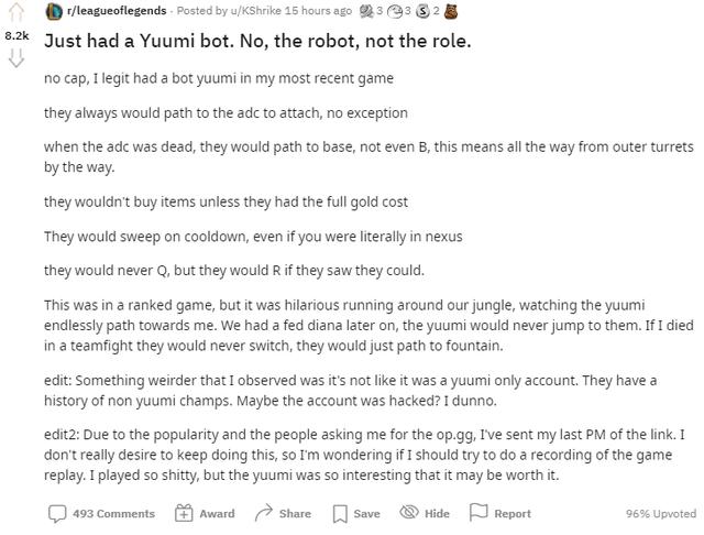 Cộng đồng LMHT phát hiện hình thức phá game mới vô cùng tinh vi khi Yuumi biến thành robot tự động - Ảnh 1.