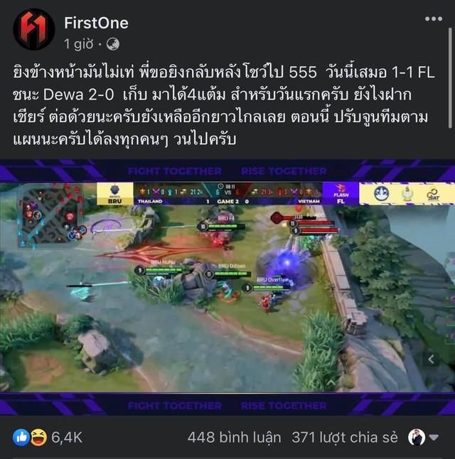 """Thực hiện chiêu cuối """"lú nhất lịch sử"""" Liên Quân, tuyển thủ Thái vẫn lên Facebook gáy mạnh và cười Team Flash - Ảnh 2."""