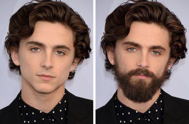 12 ngôi sao nổi tiếng trông thế nào khi nuôi râu và không để râu - Ảnh 1.