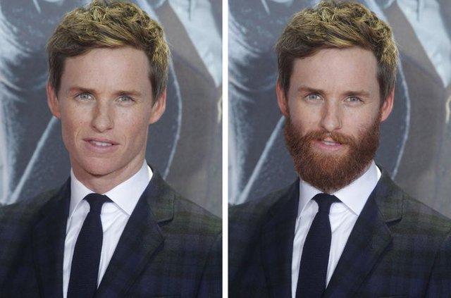 12 ngôi sao nổi tiếng trông thế nào khi nuôi râu và không để râu - Ảnh 3.