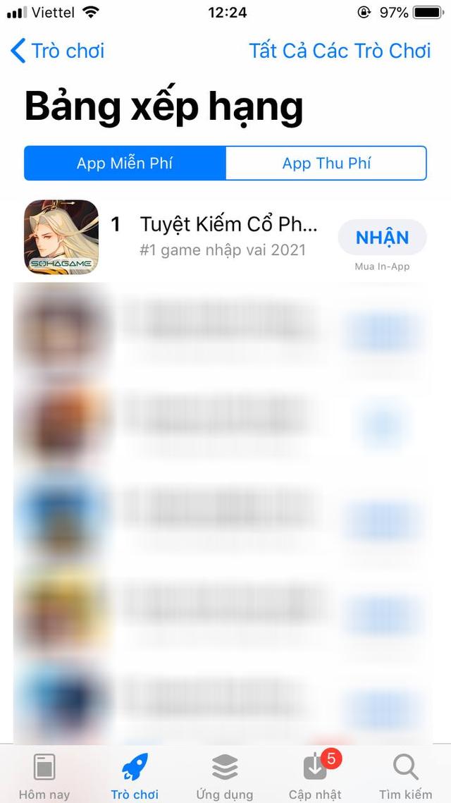 Dễ dàng TOP 1 All App trước cả khi ra mắt, rất có thể Tuyệt Kiếm Cổ Phong sẽ làm loạn Store vào ngày mai 24/6 - Ảnh 4.
