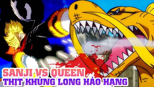 One Piece chap 1017: Tiết lộ ban đầu về hình dạng lai của Queen Bệnh Dịch, tóc vàng thì biến hình cũng xấu - Ảnh 2.