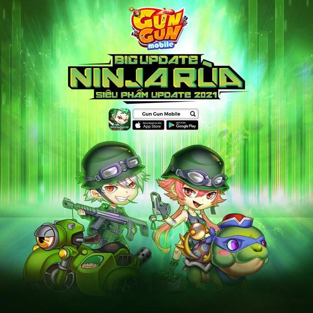Gun Gun Mobile chào đón Big Update tháng 6 Ninja Rùa: Trang phục mới, phó bản mới và còn nhiều hơn thế! - Ảnh 1.