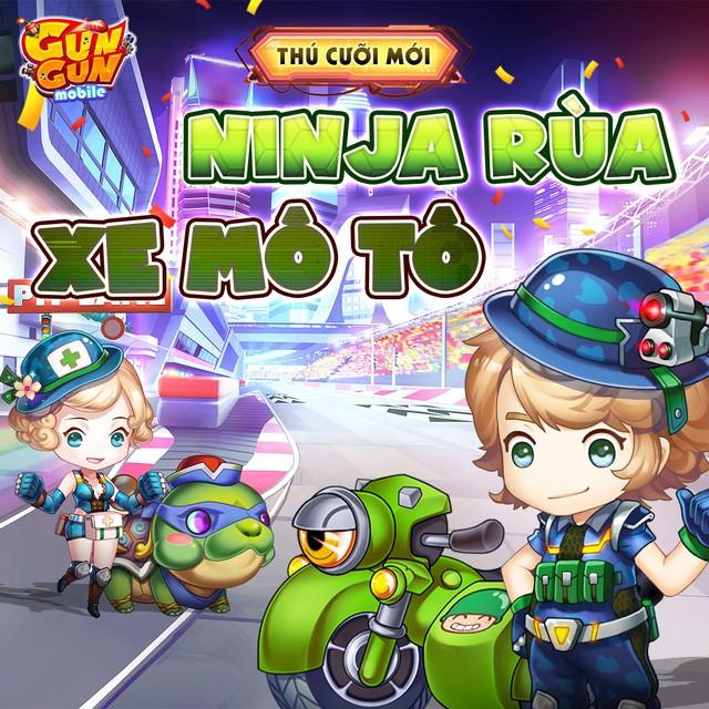 Gun Gun Mobile chào đón Big Update tháng 6 Ninja Rùa: Trang phục mới, phó bản mới và còn nhiều hơn thế! - Ảnh 2.
