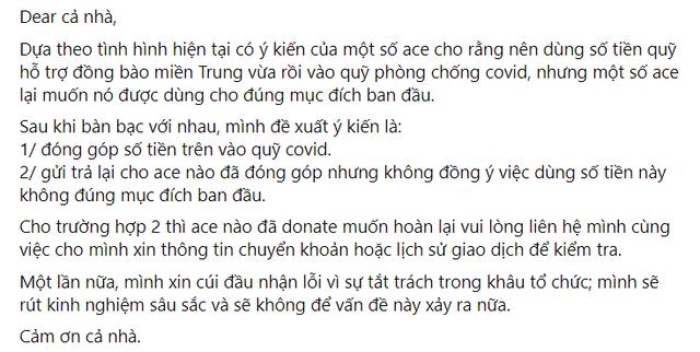 Noway và ông Cao Lê Tuấn Tú thông báo tất toán 200 triệu tiền từ thiện, khép lại lùm xùm ngâm tiền ủng hộ miền Trung - Ảnh 3.