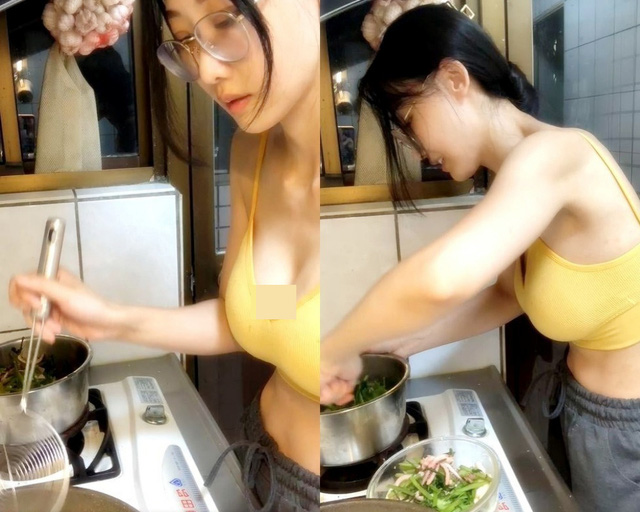 Thả rông lên sóng dạy nấu mì gói, nữ streamer gợi cảm thể hiện nhan sắc khác lạ, thu hút hơn 3 vạn like - Ảnh 5.