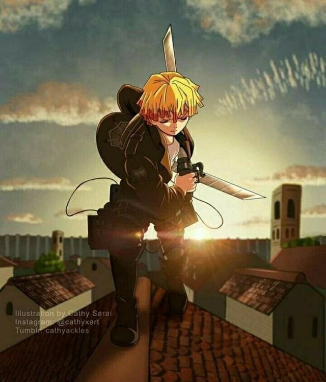 Mãn nhãn với loạt ảnh các chiến binh diệt quỷ trong Kimetsu No Yaiba chuyển sinh sang Attack On Titan - Ảnh 6.