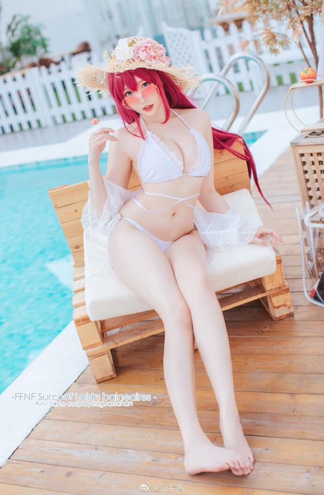 Ngắm gái xinh Azur Lane thả dáng trong bộ bikini trắng tinh khôi khoe vóc dáng chuẩn và chân dài miên man - Ảnh 5.