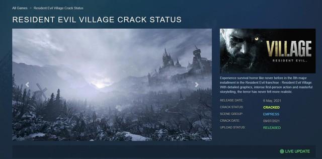 Sau 2 tháng phát hành, bom tấn Resident Evil Village bị crack - Ảnh 2.