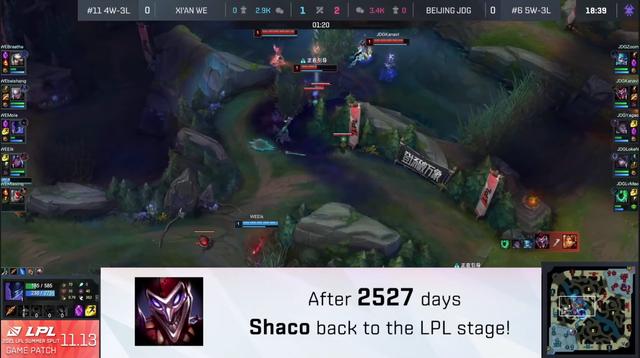 LMHT: Sau 2527 ngày, Shaco cuối cùng cũng đã quay trở lại với LPL để giúp JD Gaming đánh bại Team WE - Ảnh 2.