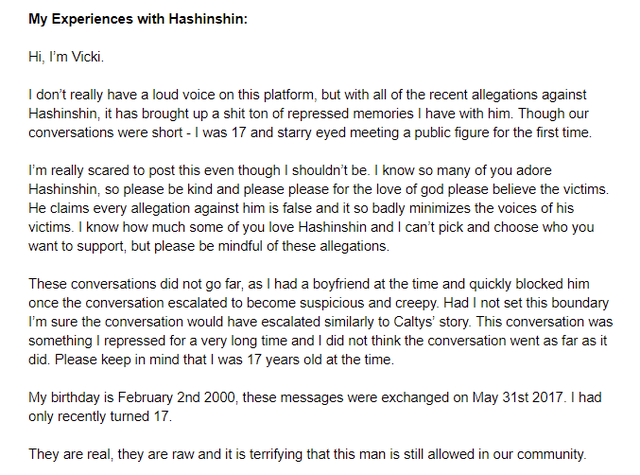 LMHT: Ngựa quen đường cũ, Super Top Hashinshin lại bị tố quấy rối nhiều nữ game thủ dưới 18 tuổi - Ảnh 3.