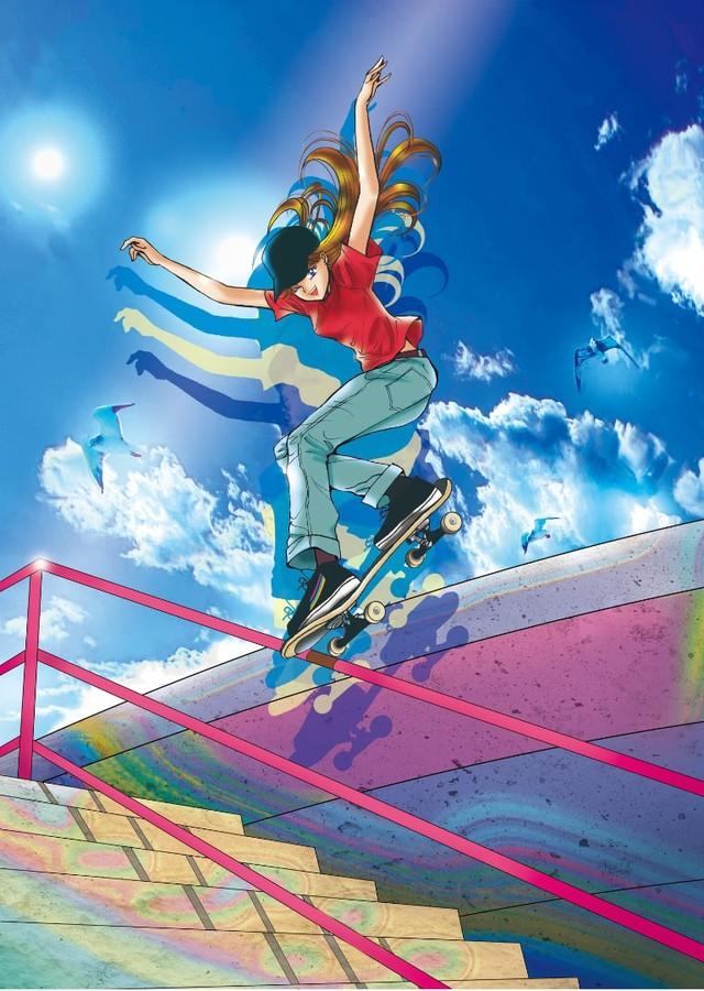Đôi tông huyền thoại của Luffy xuất hiện trong tranh cổ động Olympic Tokyo mùa hè 2020 do tác giả One Piece vẽ tặng - Ảnh 3.