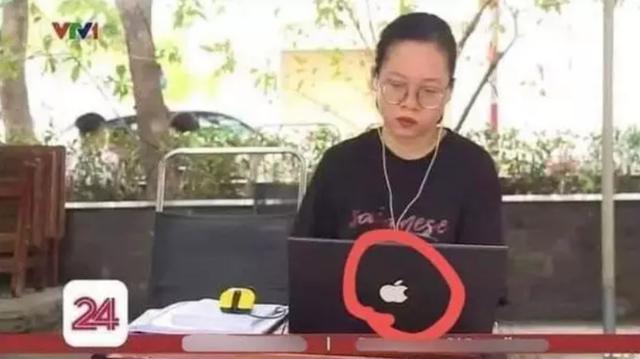 """Lên sóng truyền hình, nữ sinh học online gây """"lú"""" người xem bởi một chi tiết liên quan đến """"quả táo cắn dở"""" - Ảnh 1."""