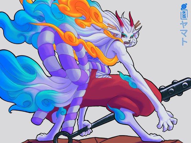 One Piece: Trái ác quỷ Zoan thần thoại của Yamato dường như sở hữu sức mạnh có thể cầm chân ông bố Tứ Hoàng? - Ảnh 5.