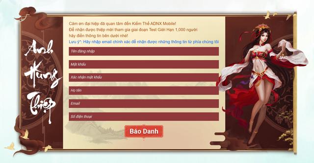 Kiếm Thế ADNX Mobile ra mắt Landing Page Test, chuẩn bị chào đón 1000 nhân sĩ võ lâm khuấy đảo giang hồ - Ảnh 2.