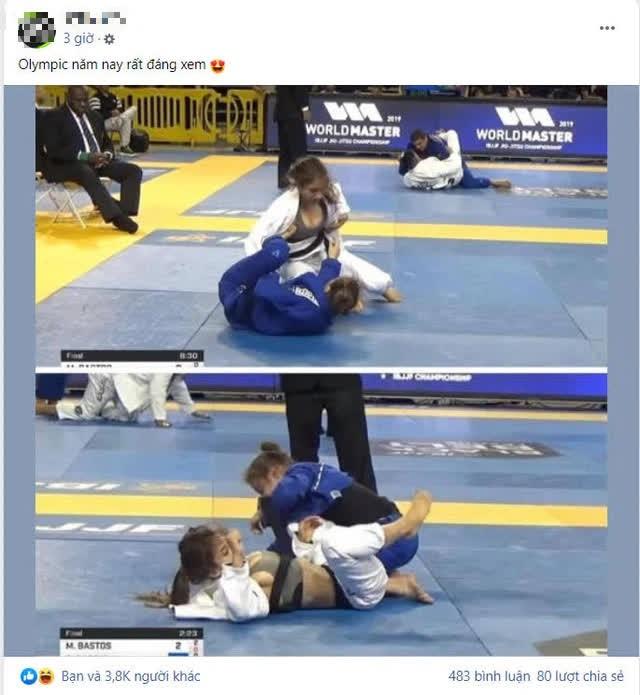 Nữ VĐV lộ vòng 1 siêu khủng khi thi đấu khiến CĐM Việt Nam trầm trồ, khẳng định đây là tại Olympic? - Ảnh 1.
