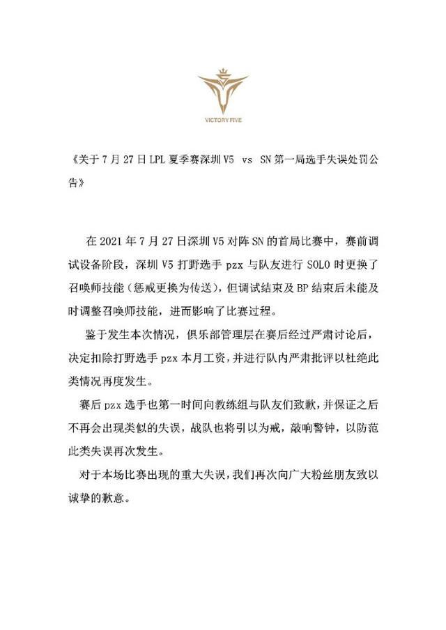 Victory Five thông báo xử phạt tuyển thủ quên mang Trừng Phạt trong trận đấu với Suning: Bay luôn 1 tháng lương - Ảnh 2.