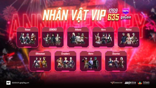 Kỷ niệm 1 năm về nhà mới, Đột Kích giảm giá khủng kho hàng VIP - Ảnh 3.