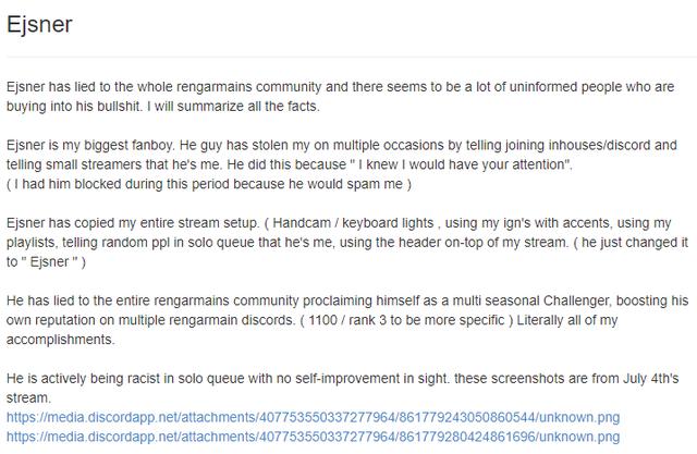 LMHT: Bị fan toxic giả danh, streamer One champ Rengar Thách Đấu nhận án cấm tài khoản đầy oan ức - Ảnh 3.