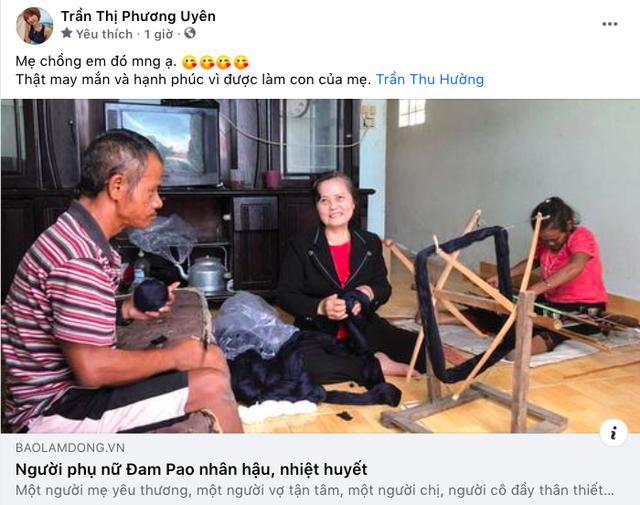 """Lần đầu tiên """"khoe mẹ chồng trên Facebook, Uyên Pu nói một câu khiến fan đủ hiểu cuộc sống viên mãn cỡ nào - Ảnh 4."""