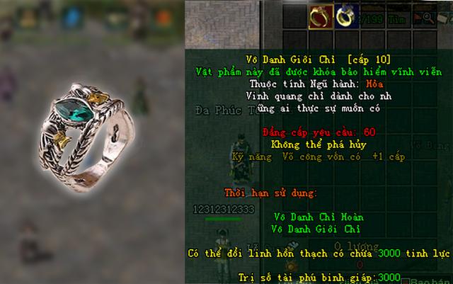 Vô Danh Giới Chỉ là gì? Vì sao bảo vật này được coi là biểu tượng sức mạnh trong game online kiếm hiệp? - Ảnh 1.