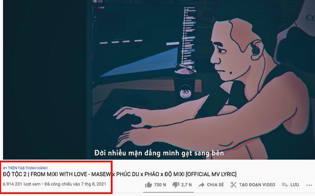 """MV """"Độ Tộc 2"""" chính thức đứng số 1 trending YouTube sau hai ngày phát hành, Tộc trưởng nhận định lý do """"on top chậm trễ - Ảnh 1."""