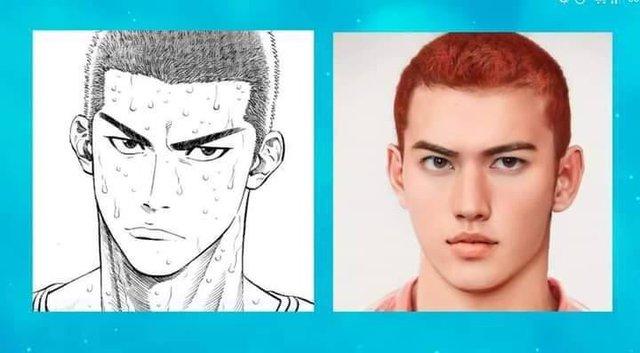 Nhan sắc dàn nhân vật Slam Dunk khi bước ra đời thật, quả tóc đỏ huyền thoại của Sakuragi Hanamichi khiến các fan mê mệt - Ảnh 19.
