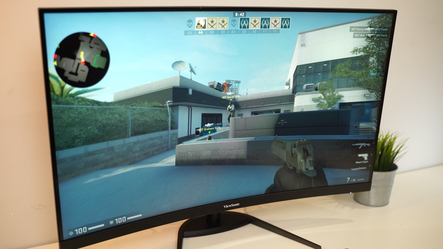 On hand gaming monitor VX3268-2KPC-MHD: Curved, big, super gaming - Photo 3.