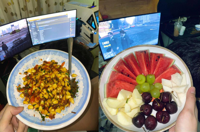 Happy as a gamer, at home playing games, his girlfriend cooks a lot of delicious dishes - Photo 2.