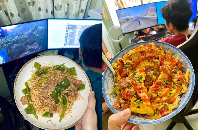 Happy as a gamer, at home playing games, his girlfriend cooks a lot of delicious dishes - Photo 4.
