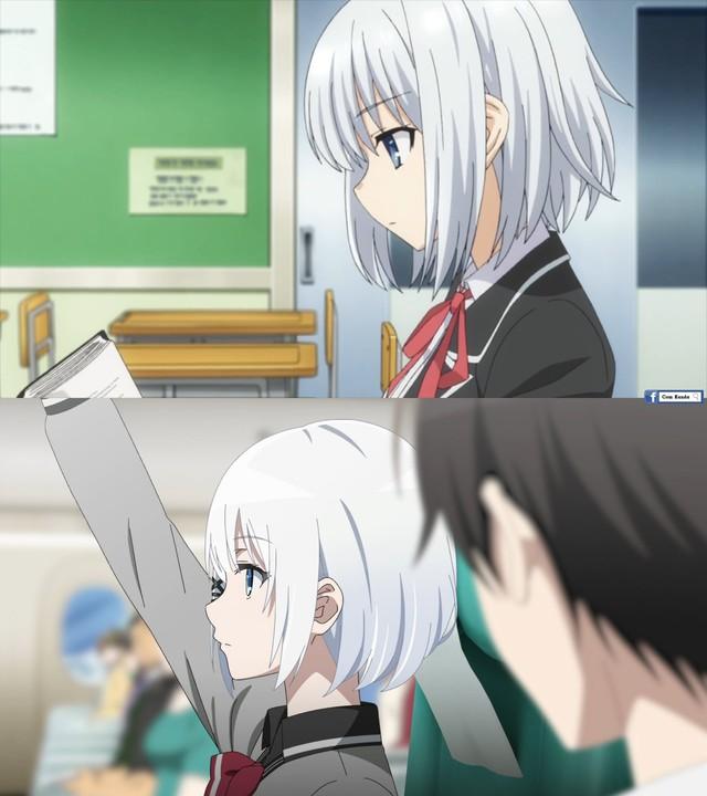 So sánh hai gái xinh tóc trắng của Thám Tử Đã Chết và Date a live Photo-1-1629442025658443795155
