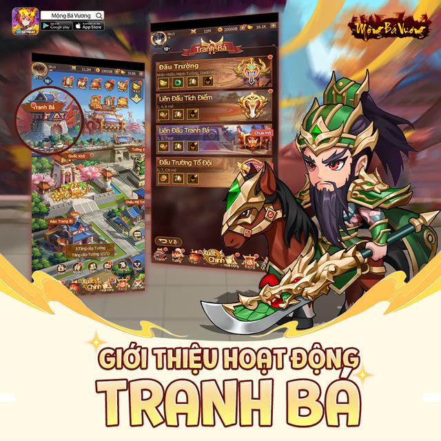 """Mộng Bá Vương – Tựa game mobile chiến thuật Tam Quốc cực """"Cute"""" sắp ra mắt game thủ Việt - Ảnh 1."""