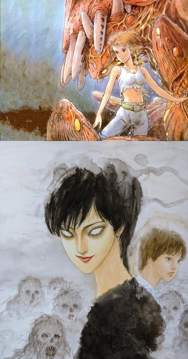 Loạt meme hài hước về sự đối lập giữa đạo diễn Miyazaki Hayao và họa sĩ Junji Ito - Ảnh 7.