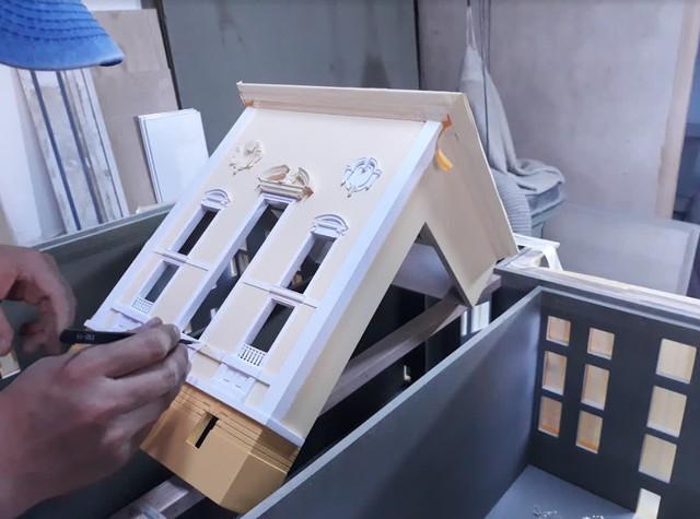 Bất ngờ mô hình Nhà Hát Lớn Hà Nội được làm bằng tay, giống đến từng chi tiết từ fan của game bắn súng - Ảnh 11.