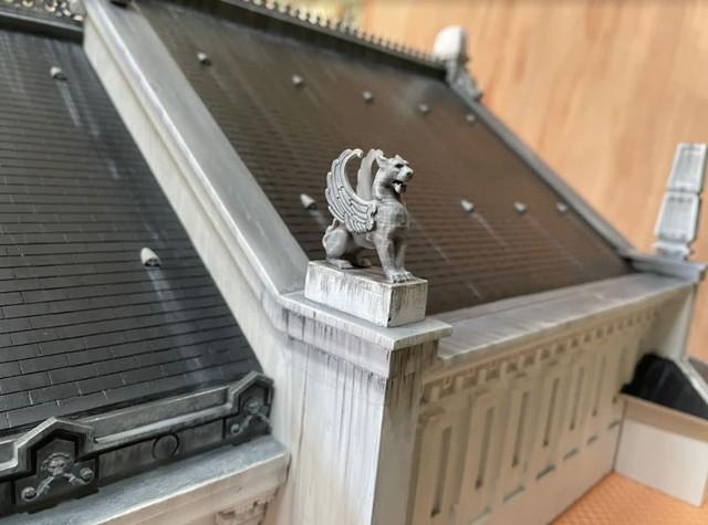 Bất ngờ mô hình Nhà Hát Lớn Hà Nội được làm bằng tay, giống đến từng chi tiết từ fan của game bắn súng - Ảnh 7.