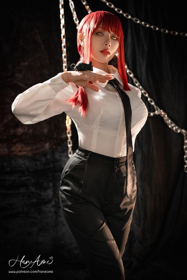 loạt ảnh cosplay Makima bằng xương bằng thịt do nữ coser HaneAme thể hiện Photo-1-16299692160441665645052