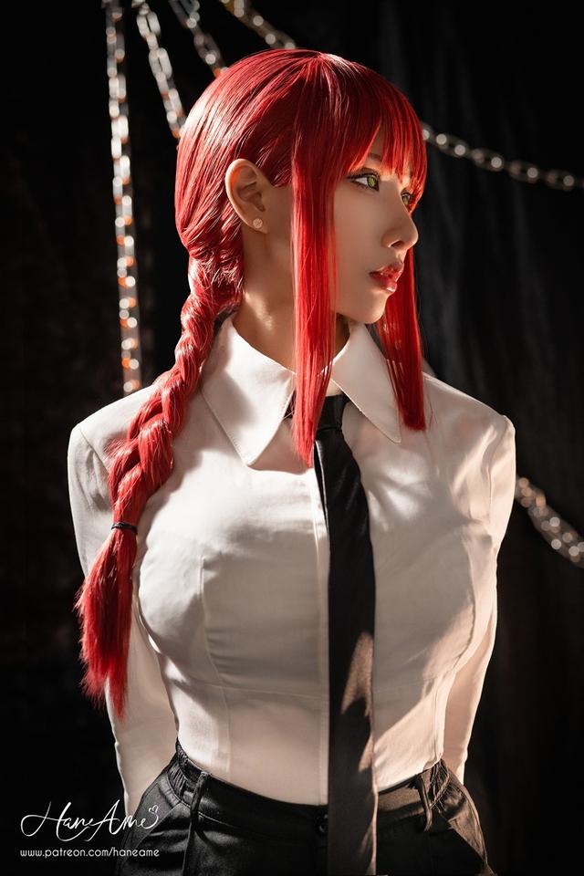 loạt ảnh cosplay Makima bằng xương bằng thịt do nữ coser HaneAme thể hiện Photo-1-1629969222171291887243