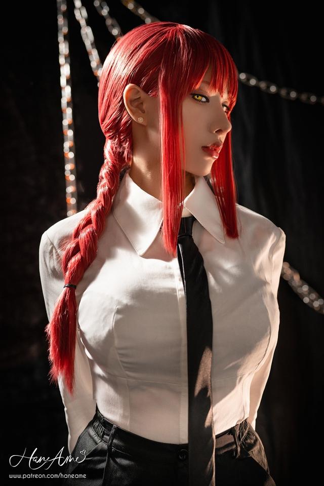 loạt ảnh cosplay Makima bằng xương bằng thịt do nữ coser HaneAme thể hiện Photo-1-1629969228294646913252