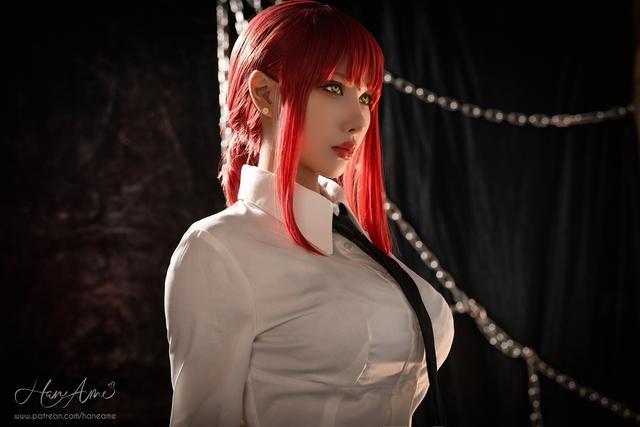 loạt ảnh cosplay Makima bằng xương bằng thịt do nữ coser HaneAme thể hiện Photo-1-1629969234418376635961