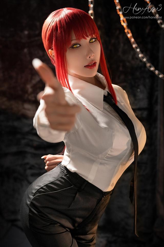 loạt ảnh cosplay Makima bằng xương bằng thịt do nữ coser HaneAme thể hiện Photo-1-1629969240478714677223