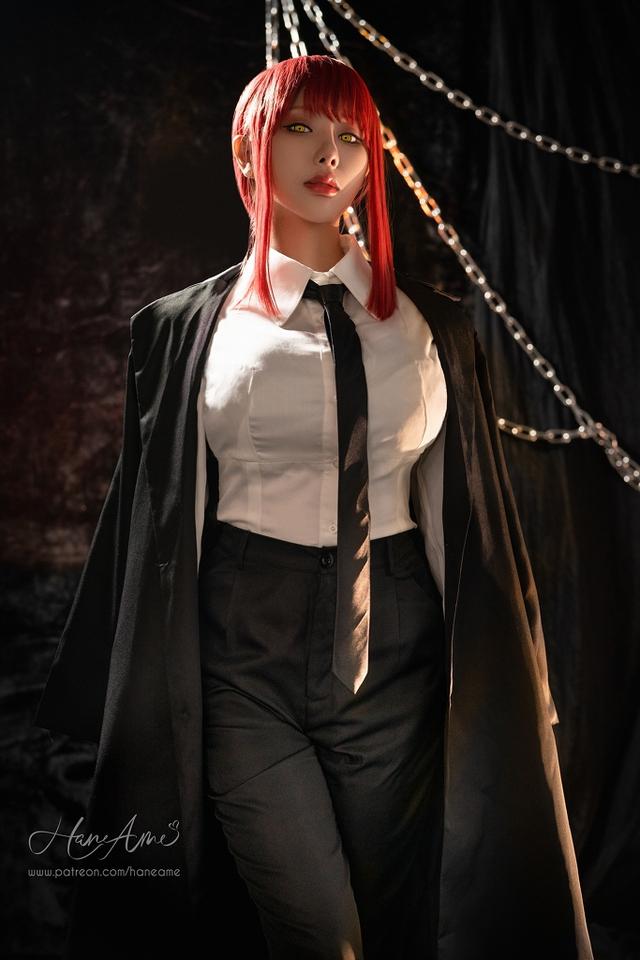 loạt ảnh cosplay Makima bằng xương bằng thịt do nữ coser HaneAme thể hiện Photo-1-1629969246582256943023