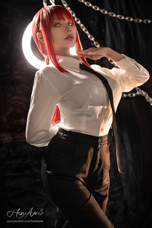 loạt ảnh cosplay Makima bằng xương bằng thịt do nữ coser HaneAme thể hiện Photo-1-16299692539851629259731