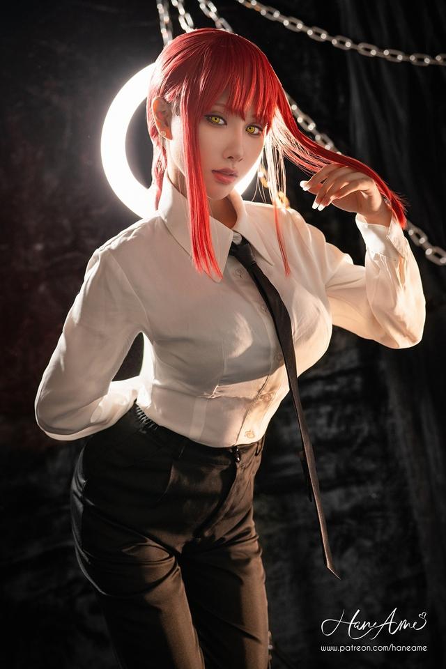 loạt ảnh cosplay Makima bằng xương bằng thịt do nữ coser HaneAme thể hiện Photo-1-16299692604181512230348