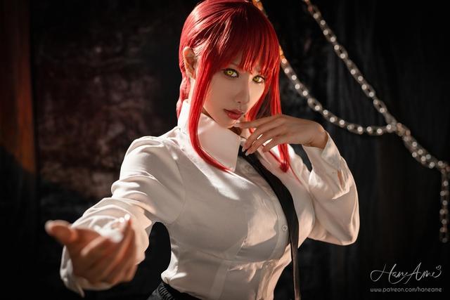 loạt ảnh cosplay Makima bằng xương bằng thịt do nữ coser HaneAme thể hiện Photo-1-16299692663441126728669