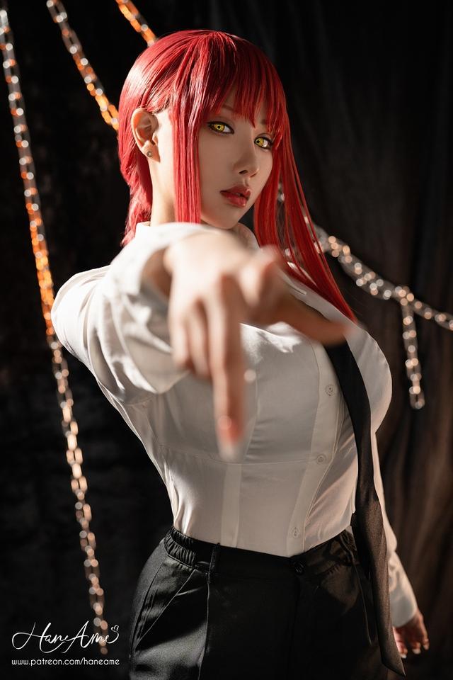 loạt ảnh cosplay Makima bằng xương bằng thịt do nữ coser HaneAme thể hiện Photo-1-16299692785011780627684