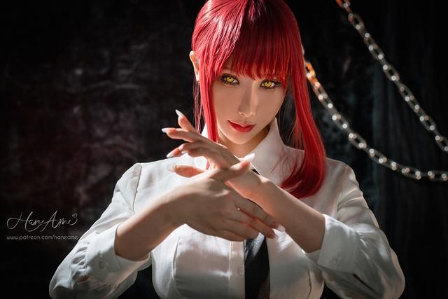 loạt ảnh cosplay Makima bằng xương bằng thịt do nữ coser HaneAme thể hiện Photo-1-16299692848391007649092